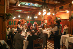 The famous Matyàs Pince restaurant of Budapest on Hungary Stock Image