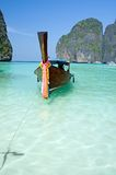 Famous Maya bay of Phi-phi Leh island Royalty Free Stock Image