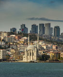Famous Mecidiye Mosque in Ortakoy Royalty Free Stock Images