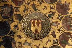 Famous medieval astronomical clock in Prague Royalty Free Stock Images