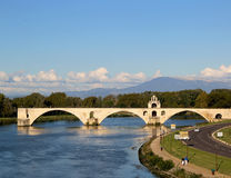 The famous medieval bridge Pont Saint-Benezet  in Avignon, France Royalty Free Stock Image