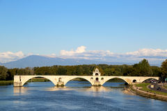 The famous medieval bridge Pont Saint-Benezet  in Avignon, France Royalty Free Stock Photos