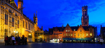 Panorma of Burg, Brugge. Stock Photography