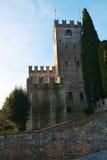 Famous medieval Castello, Conegliano Veneto, Treviso. Famous Castello and its medieval walls, on Colle di Giano, in Conegliano, in Veneto, Treviso, Italy, Europe Stock Photo