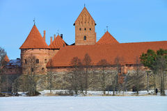 Medieval castle in winter Royalty Free Stock Photography