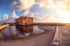 Famous medieval castle at Paphos harbor. Cyprus Royalty Free Stock Photography