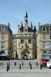 Famous medieval city gate in Bordeaux Stock Photography