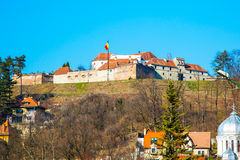 The famous medieval fortress citadel in Rupea Stock Photo