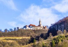 Famous medieval Leuchtenburg near Kahla Royalty Free Stock Images