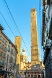 Famous medieval Two Towers in Bologna, Italy Stock Image