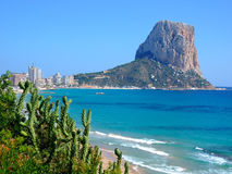 Beach in Calpe,Spain. Famous Mediterranean Resort Calpe in Spain Stock Photo