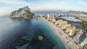 Famous Mediterranean Resort Calpe in Spain / STUNNING VIDEO ALSO Royalty Free Stock Images
