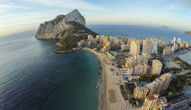 Famous Mediterranean Resort Calpe in Spain / STUNNING VIDEO ALSO Royalty Free Stock Photography