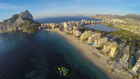 Famous Mediterranean Resort Calpe in Spain / STUNNING VIDEO ALSO Stock Photos