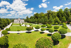 Famous Melk Abbey garden pavilion in lower Austria Royalty Free Stock Photography