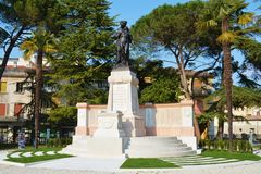Famous memorial in Conegliano, Italy Stock Photography