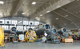 Famous Memphis Belle Restoration in Process Royalty Free Stock Photos