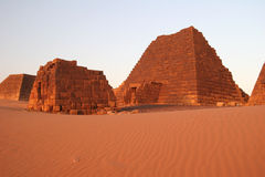 Famous Meroe pyramids Royalty Free Stock Images