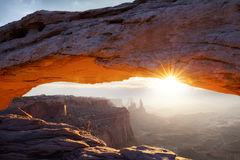 Famous Mesa Arch Stock Image