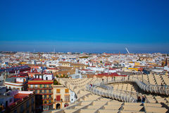 Famous Metropol Parasol on Plaza de la Encarnacion.Seville,Spain Stock Photos