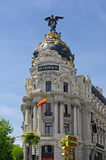 The famous Metropolis Building of Gran Via, Madrid Royalty Free Stock Photography
