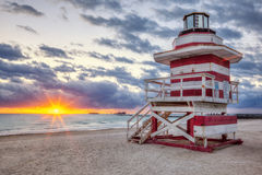 Famous Miami South Beach sunrise Stock Photography