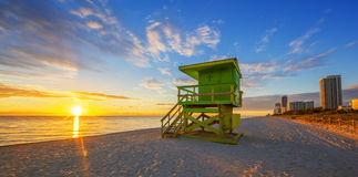 Famous Miami South Beach sunrise Stock Images