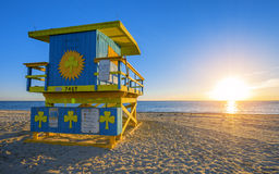 Famous Miami South Beach sunrise Royalty Free Stock Photography