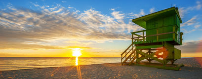 Famous Miami South Beach sunrise Royalty Free Stock Images