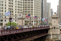 The famous Michigan Avenue in Chicago, Illinois, USA Royalty Free Stock Photography