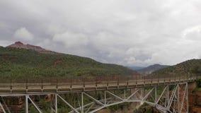 The Famous Midgley Bridge At The Oak Creek Canyon In Sedona, Arizona