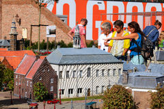 Famous miniature park and tourist attraction of Madurodam Royalty Free Stock Images