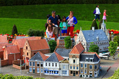 Famous miniature park and tourist attraction of Madurodam Stock Photography