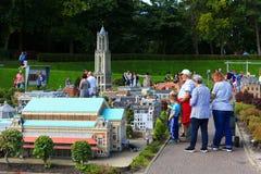 Famous miniature park and tourist attraction of Madurodam Stock Photos
