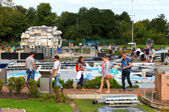 Famous miniature park and tourist attraction of Madurodam Royalty Free Stock Photography