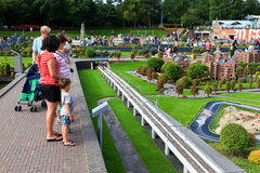 Famous miniature park and tourist attraction of Madurodam Stock Images