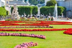 Famous Mirabell Garden view in Salzburg, Austria Royalty Free Stock Photo