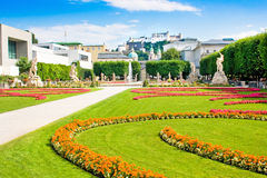 Famous Mirabell Gardens in Salzburg, Austria Stock Photography