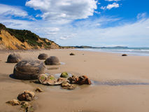 Famous Moeraki boulders Stock Photo