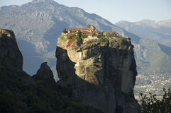 Famous monastery meteora greece Royalty Free Stock Images