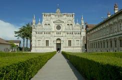 Famous monastery of Pavia, Italy stock photo