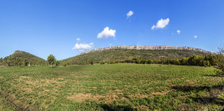 Famous montagne sainte Victoire at chateauneuf le Rouge Royalty Free Stock Photo