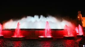 The famous Montjuic Fountain, Barcelona Stock Photos