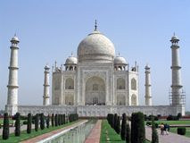 Famous monument. The magnificent Taj Mahal, main view Royalty Free Stock Images