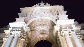 Hello to the great Arch of Rua Augusta!. The famous monument arch at Lisbon square, Praça do Comercio aka Terreiro do Paço Royalty Free Stock Image