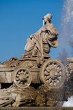 Famous monument of Fuente de Cibeles in Madrid Royalty Free Stock Photography
