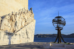 Famous Monument to the Discoveries Royalty Free Stock Photos