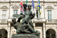 Famous monument in Turin Royalty Free Stock Image