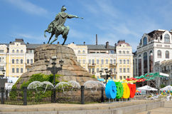 Famous monument of the Ukrainian hetman Royalty Free Stock Images