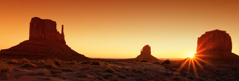 Famous Monument Valley at sunrise Stock Image